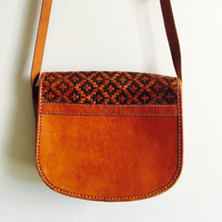 Woven Leather Resort Bag