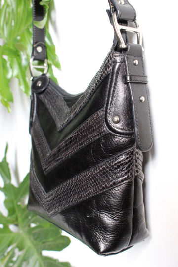 Etienne Aigner Black Leather Bag