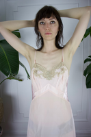 Peachy Perfect Silk Slip Dress