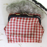 Dainty Gingham Coin Purse Wallet