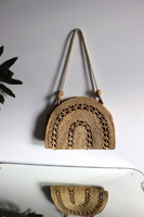 Woven Arch Straw Bag