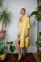 Golden Girl Quilted Lounge Coat