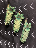 20s Italian Fern Enamel Curtain Tie Backs