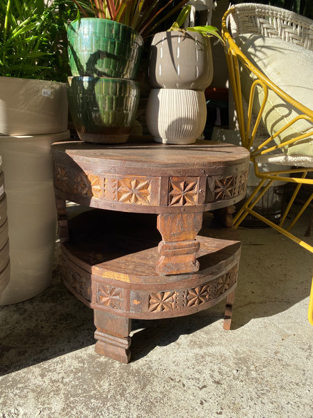 Reclaimed Wood Plant Pedestal