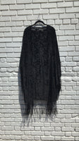 Witchy Black Burnout Velvet Robe