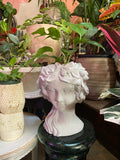 Olive Wreath Goddess Head Planter