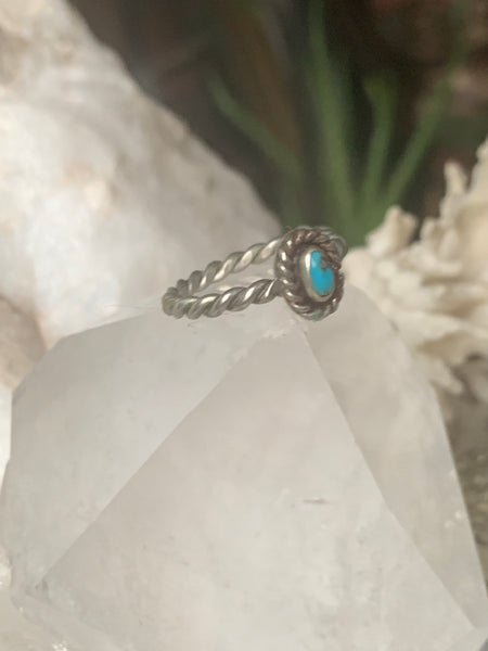 Petite Turquoise Sterling Ring