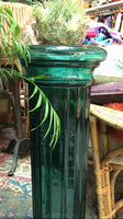 Vintage Deco Glass Column Pedestal