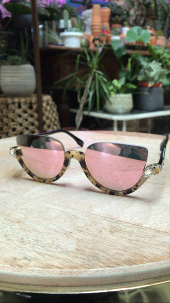 Mirrored Teardrop Tortoise Sunnies