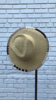 Woven Sun Hat with Natural Brim