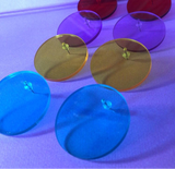 Mod Acrylic Disk Earrings (4 Colors Available)