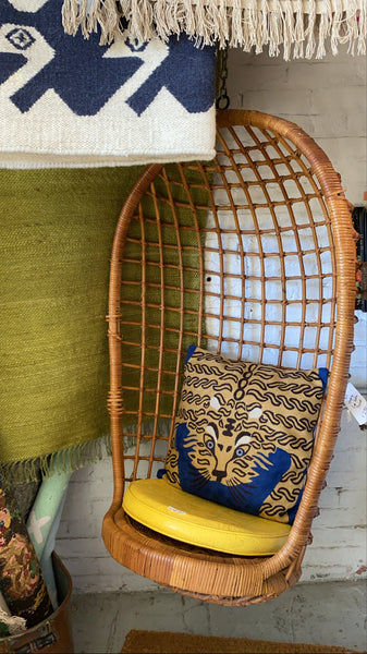 Vintage 1970s Hanging Basket Chair