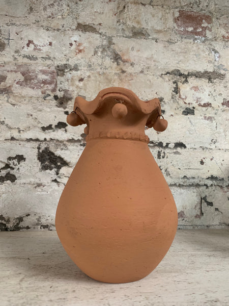 Ruffled Terra-Cotta Vase