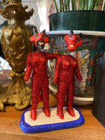 Devil Couple Bobble Head