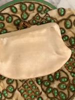 20s Green and Cream Beaded Purse