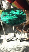 Vintage Malachite Top End Table