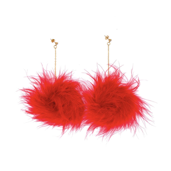 Fuzzy Earrings by SPARKLE DIVA TOPIA