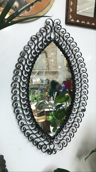 MCM Black Filigree Mirror