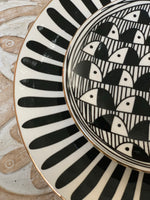Black and White Appetizer Plates