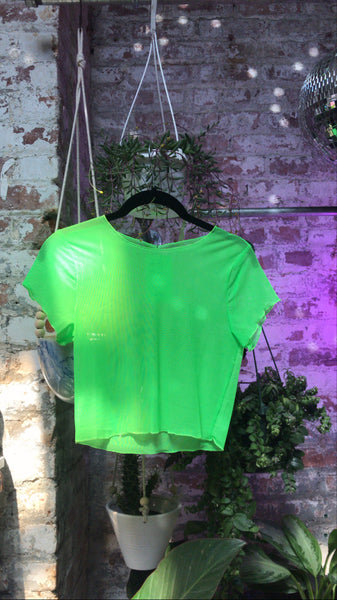 Hot Green Neon Mesh Top
