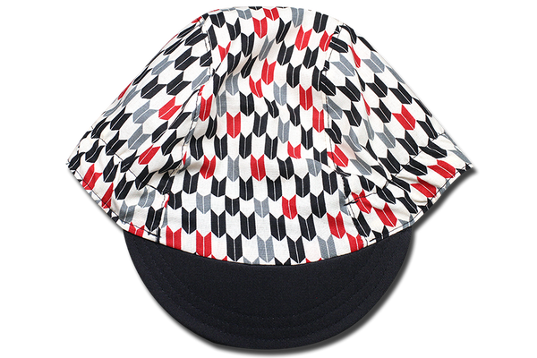 Japanses Sashiko Arrow Cycling Cap
