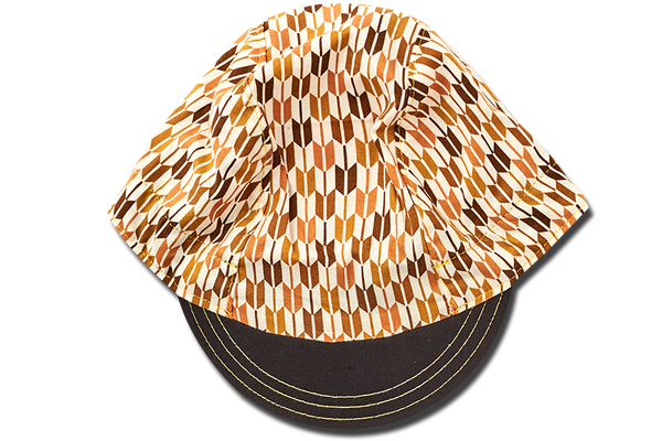 Japanese Sashiko Arrow BROWN Cycling Cap