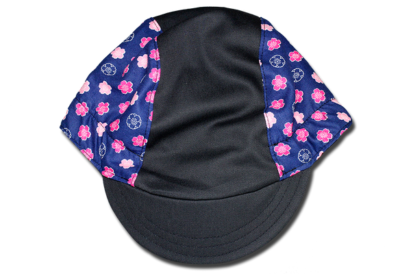Blue Pink Sakura Cycling Cap