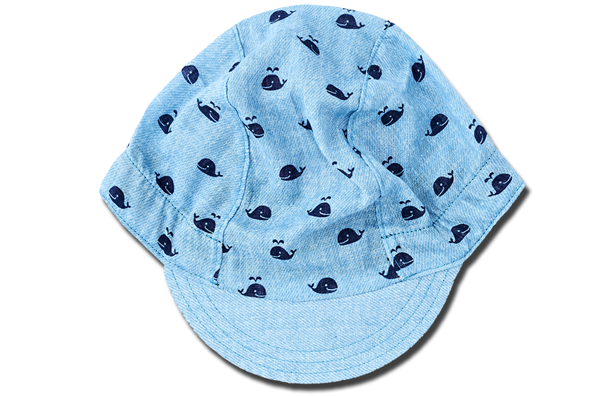 Blue Whale is Swimming Cycling Cap