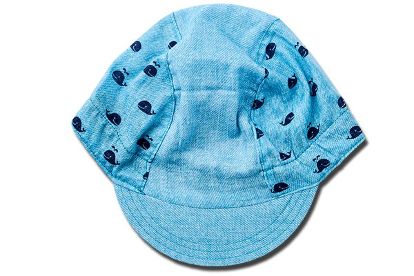 Little Blue Whale is Swimming Cycling Cap Ver 1.0