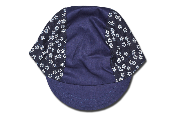 Japanese Cherry Blossoms Blue Cycling Cap