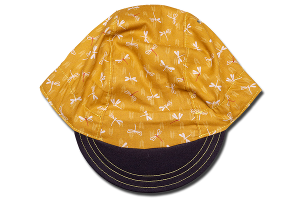 Japanese Chevron Dragonfly Yellow Cycling Cap Ver 2.0