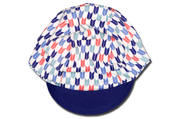 Japanese Sashiko Arrow BLUE Cycling Cap Ver 1.0