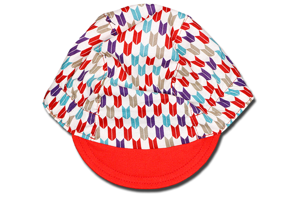 Japanese Sashiko Arrow RED Cycling Cap Ver 1.0