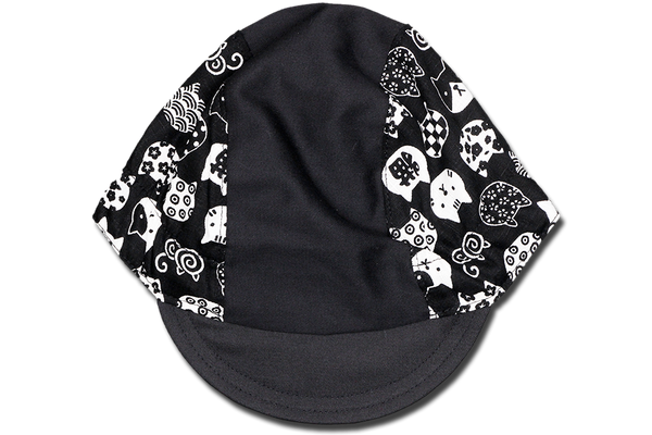 Little Takifuku Neko BLACK Cycling Cap Ver 2.0