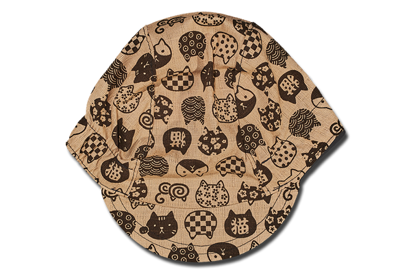 Little Takifuku Neko Brown Cycling Cap