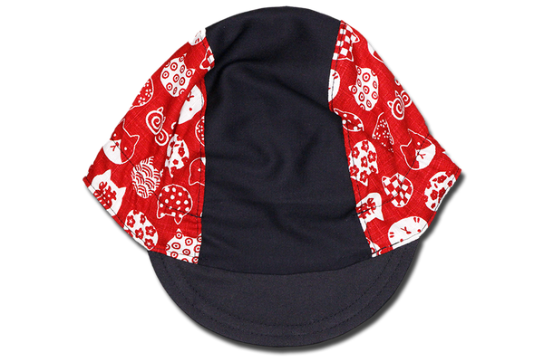 Little Takifuku Neko RED Cycling Cap Ver 3.0