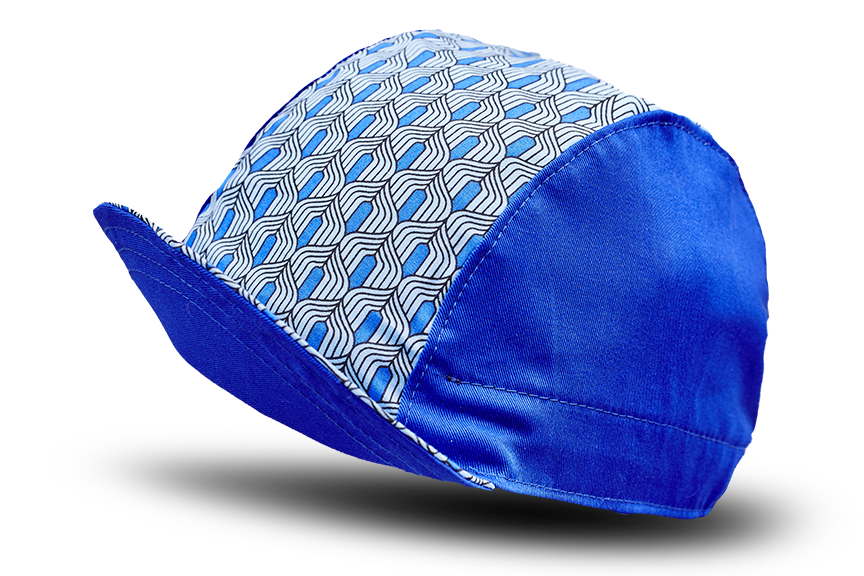 Retro Blue Cycling Cap