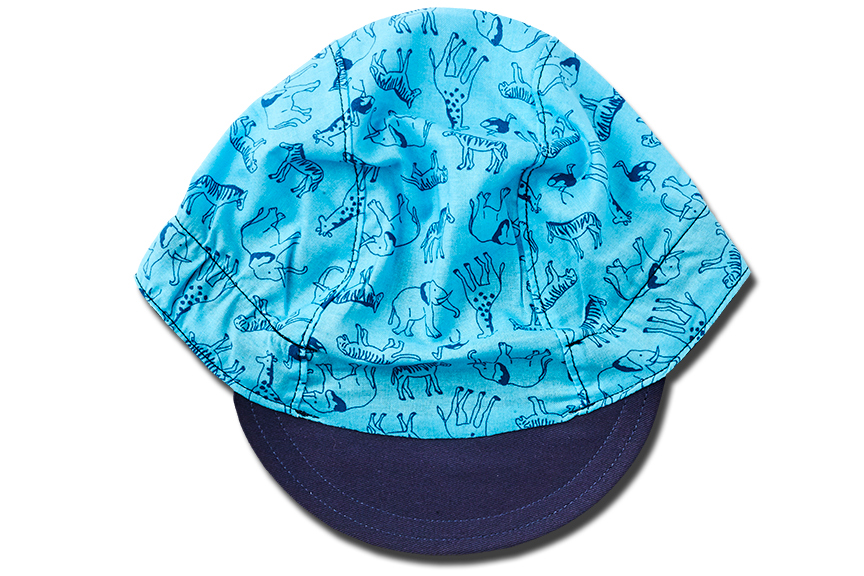 Safari BLUE Cycling Cap