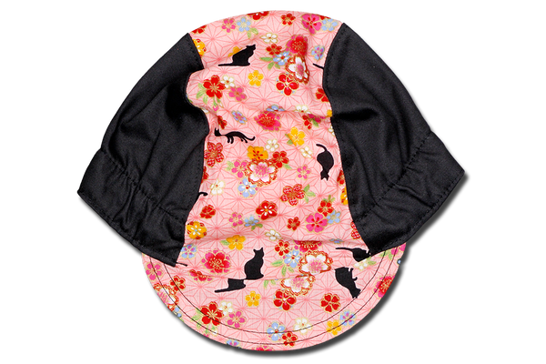 Sakura Neko Black Cycling Cap