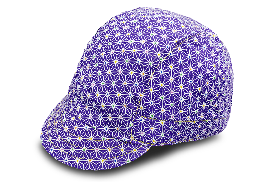 Sashiko Star Purple Cycling Cap
