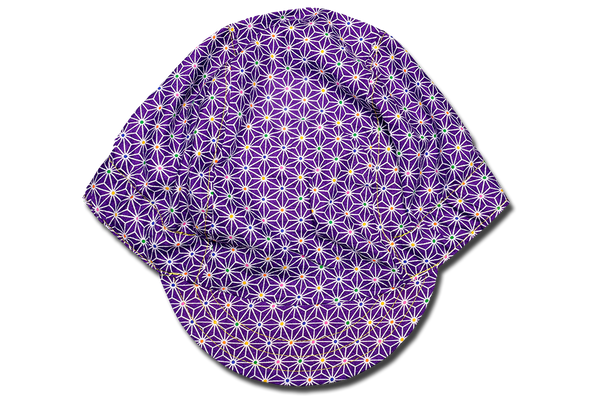 Little Purple Sashiko Star Cycling Cap