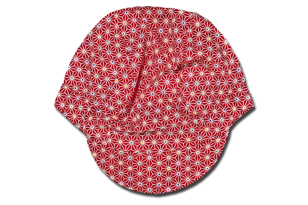 Sashiko Star Red Cycling Cap