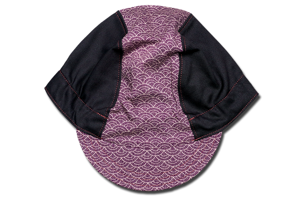 Sashiko Wave Purple Cycling Cap Ver 1.0