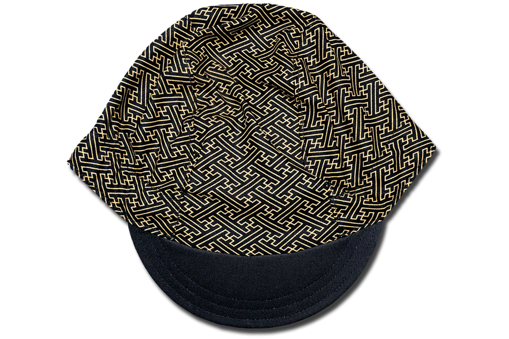 Sashiko Saya Gata BLACK Cycling Cap