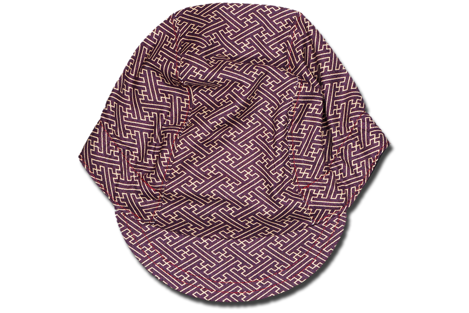 Little Sashiko Saya Gata MAROON Cycling Cap