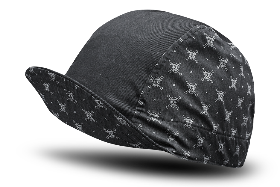 One Piece Skeleton Black Cycling Cap