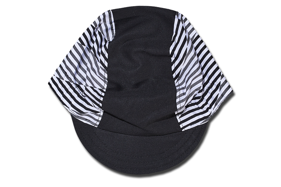 The Black and White Stripes Cycling Cap