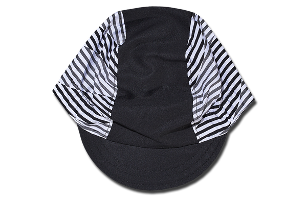 Little Black and White Stripes Cycling Cap