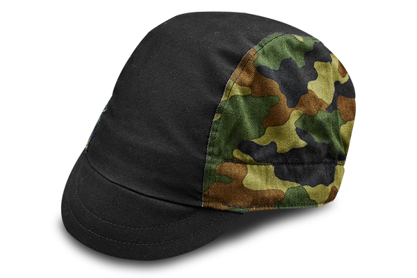 Little Camo Black Cycling Cap