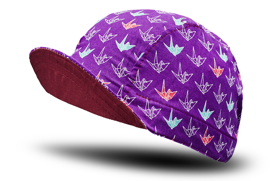 Little Origami Purple Cycling Cap